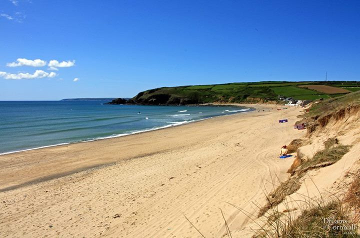 This was taken a few minutes ago at Praa Sands in west Cornwall. Praa Sands (pronounced 'Pray') takes its name from the Cornish words 'Poll an Wragh' meaning 'Hags' or 'Witches' Cove, it's a beautiful stretch of sand and as you can see in this photo, it's the perfect place to spend a sunny day like today!   View our selection of quality holiday accommodation in Cornwall - www.dreamsofcornwall.co.uk