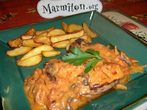 Sauce tomate al berdouille ( pour rôti de porc )