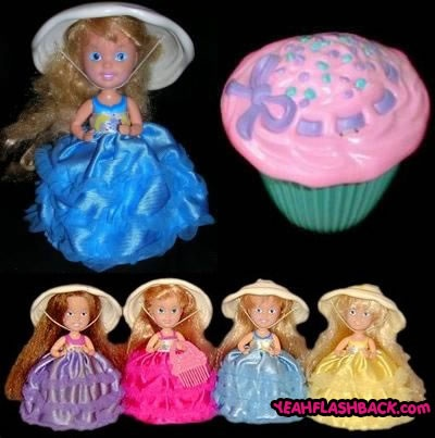 I had all four Cupcake Dolls. Oooooh these were some of my favorite things to play with. Every night was prom night!