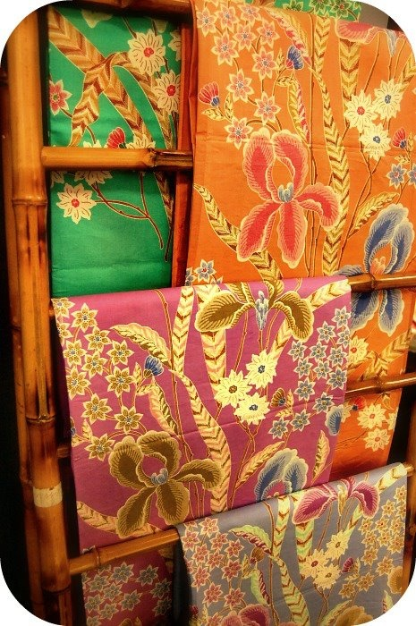 Our gorgeous fabrics collections :)  Tangerine Tango is my new favorite this year :) #batik www.batikduasisi.com