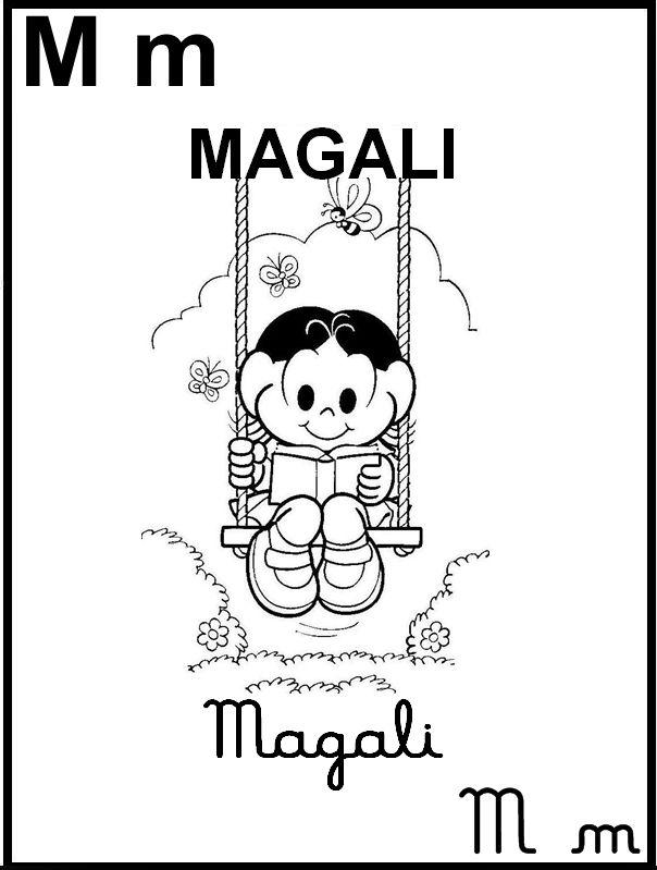 Alfabeto Ilustrado Turma Da Monica Letra M Alfabeto Desenhado