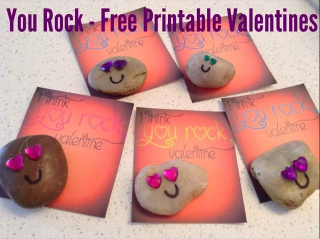 This is an image of Irresistible You Rock Valentine Printable