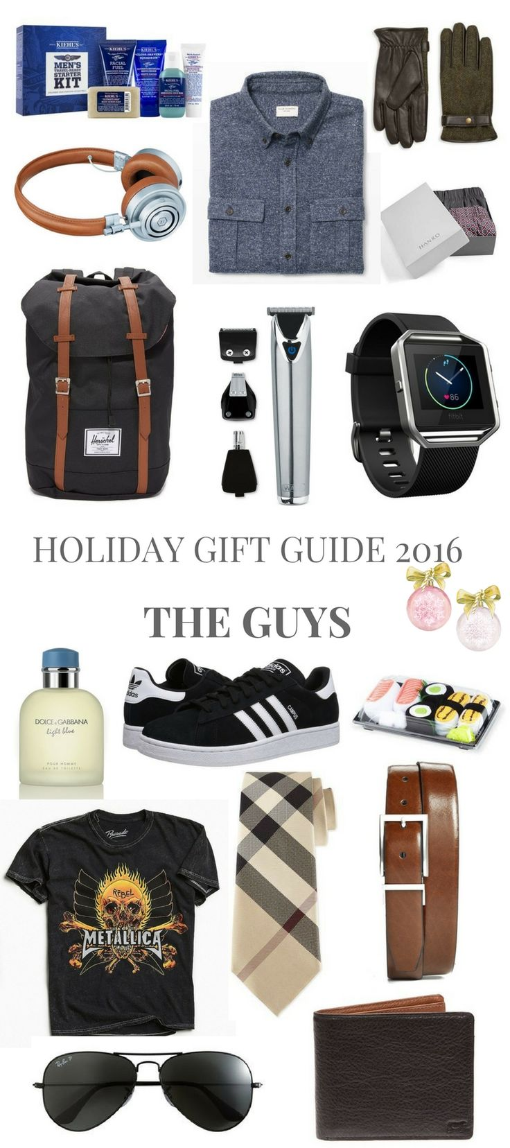 HOLIDAY GIFT GUIDE 2016 THE GUYS // Shoegal Out In The World