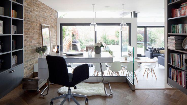 Modern Open Home Office on Mezzanine Floor