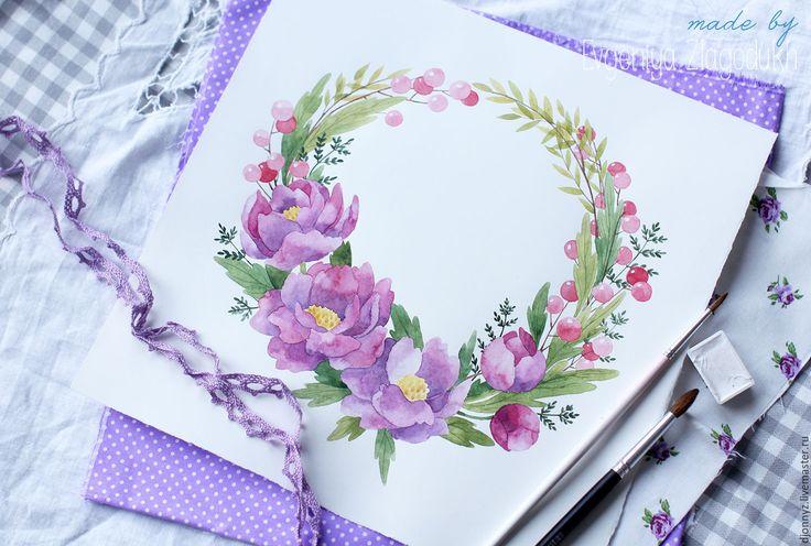 """Купить Логотип """"Лиловые цветы"""" - комбинированный, логотип на заказ, логотип, логотип мастера, лого, визитка"""