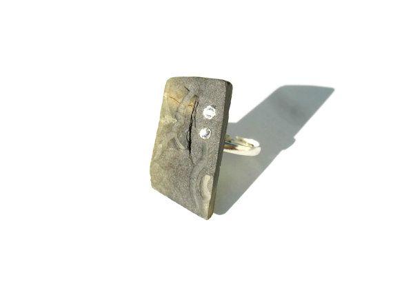 Slate Ring   Nature Collection  Portuguese Schist  by ScrapCati, $29.00