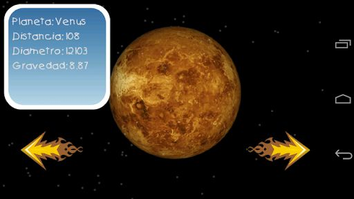 Educational application on the planets of the solar system. Images of all the planets in the solar system with information about its severity, distance from the sun, size, etc. The planets are shown to scale. The distances between the planets are also scaled. Stunning images of Mercury, Venus, Earth, Mars, Jupiter, Saturn, Uranus, Neptune and Pluto.<p>Stunning images of the sun and the planets of the solar system. Educational application for children and adults to learn a little astronomy…