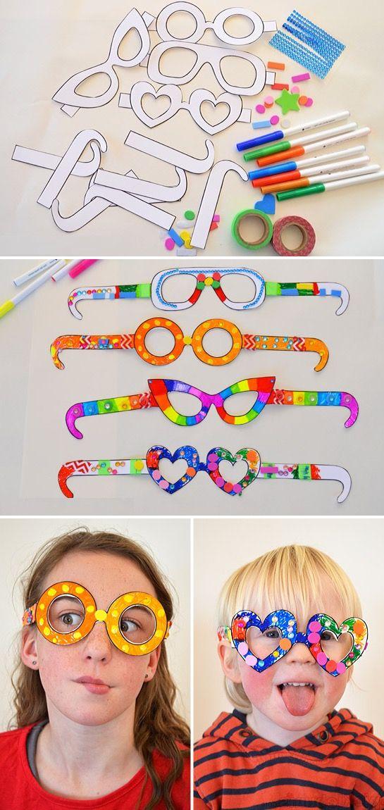 fabriquer des lunettes en papier