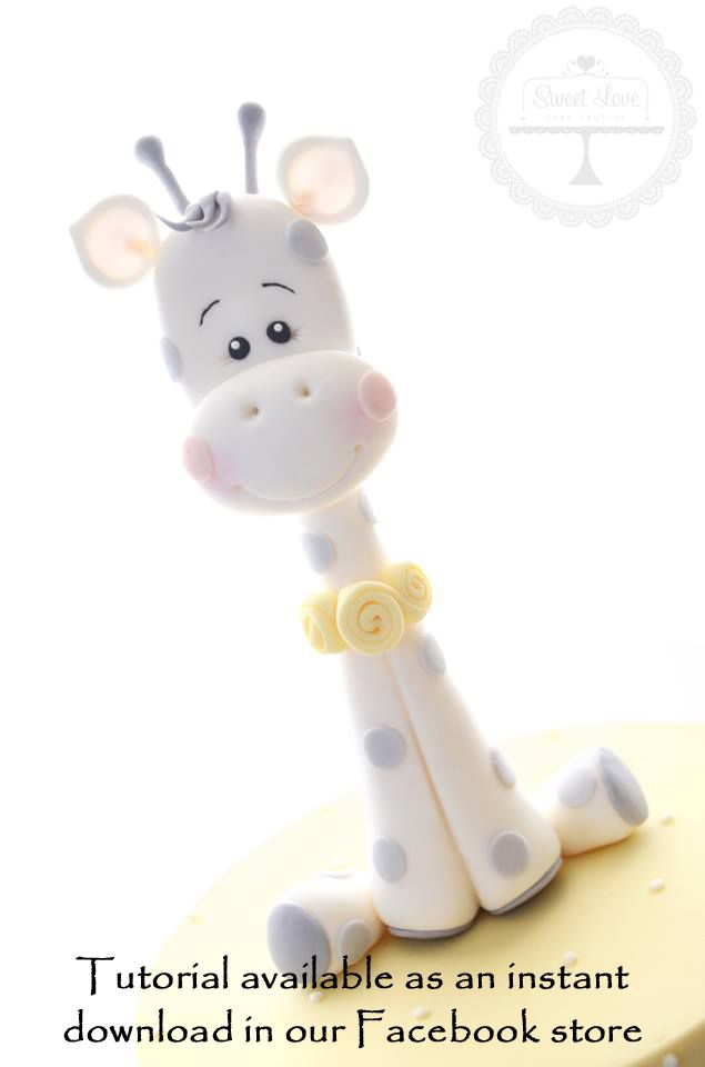 Learn how to create this baby giraffe topper with our instant download tutorial. Click to visit our store.