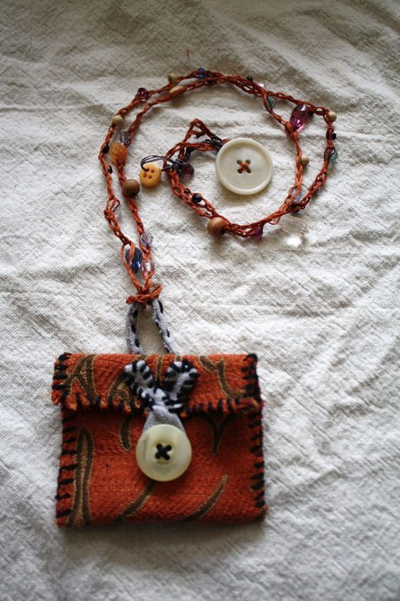 Medicine Pouch Pouch Necklace Amulet necklace by remainewicked, $35.00