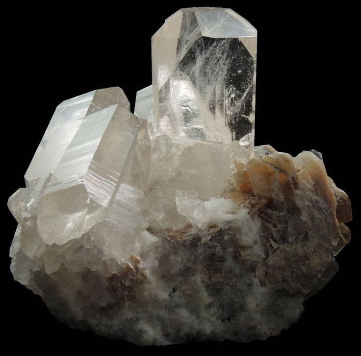 Detail view of mineral Topaz on Quartz with Muscovite for sale from Mogok District, 115 km NNE of Mandalay, border region between Sagaing and Mandalay Divisions, Myanmar (Burma)