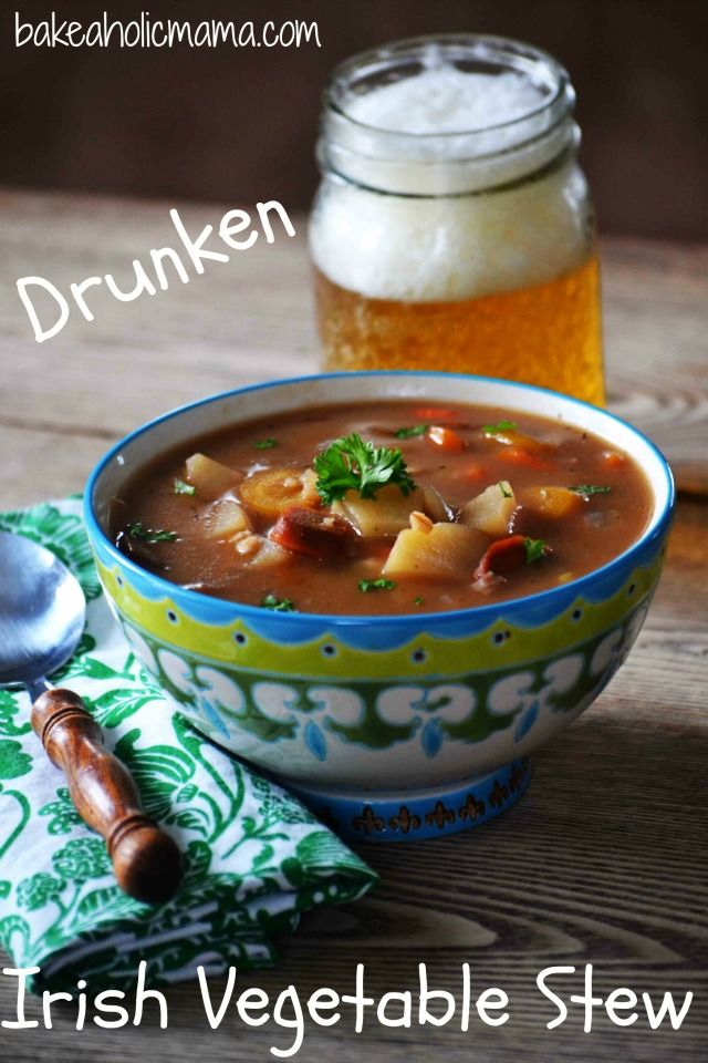 Drunken Irish Vegetable Stew - Packed with root vegetables, barley ...