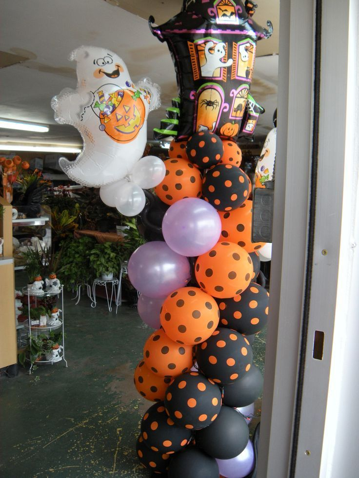 80 best halloween balloon decorations images on pinterest for Balloon decoration for halloween