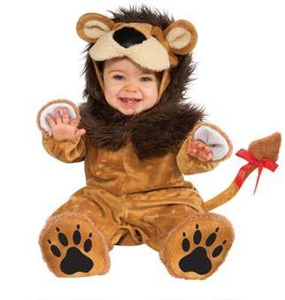 Disfraz de león para bebé. Disponible en www.vegaoo.es