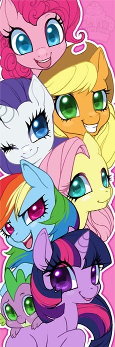 Kawaii pony Once upon a time, in a parallel universe called The Nineties, there was a group of buxom ponies. @jankyhero