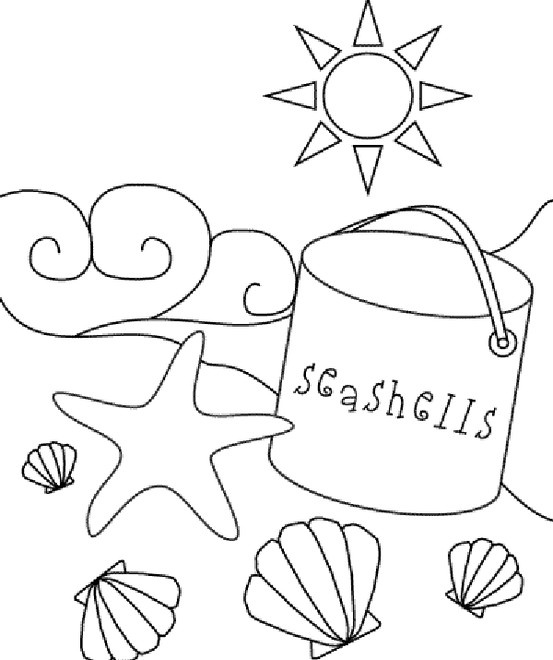 Sea Shell Coloring Page
