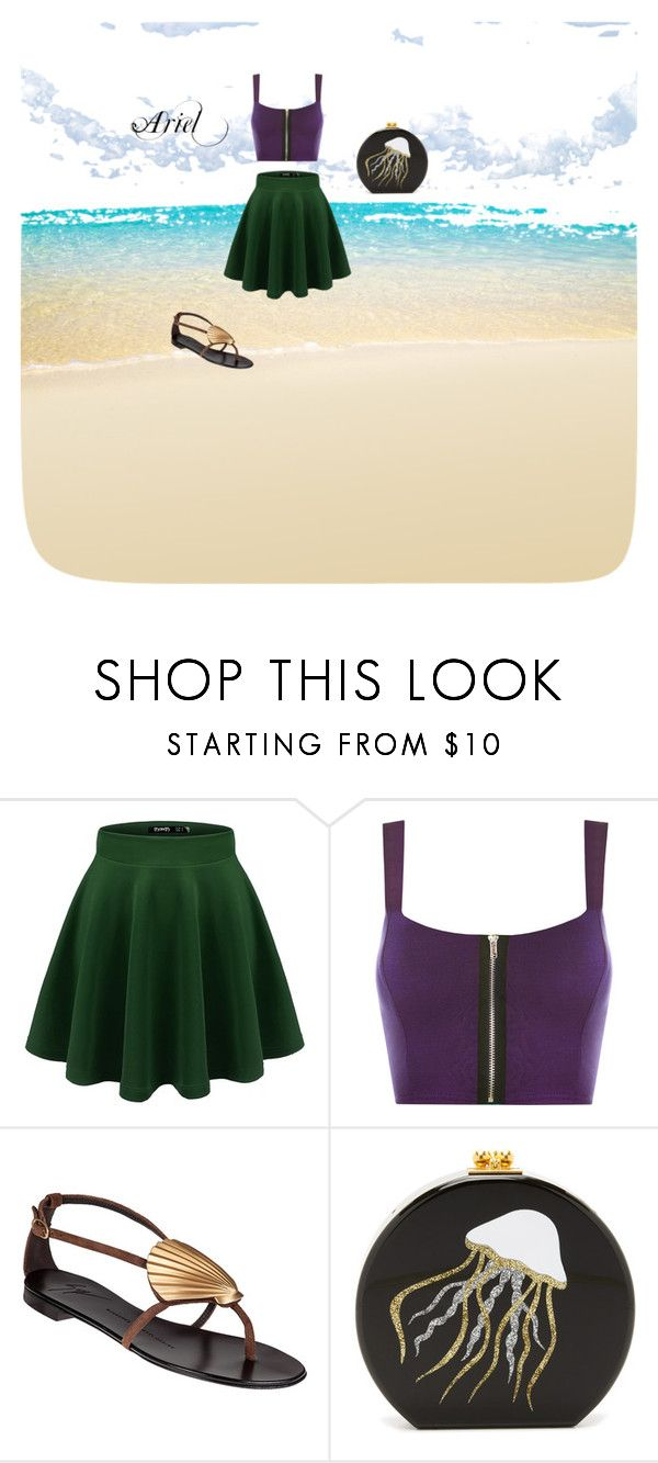 Untitled #5 by beata-apanasewicz on Polyvore featuring WearAll, Giuseppe Zanotti and Edie Parker
