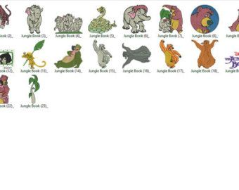 Disney The Jungle Book Embroidery Designs