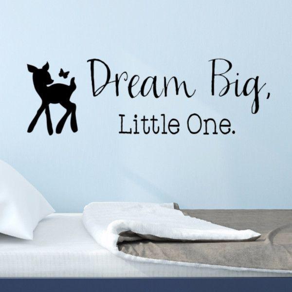 Dream Big Little One Deer Wall Decal