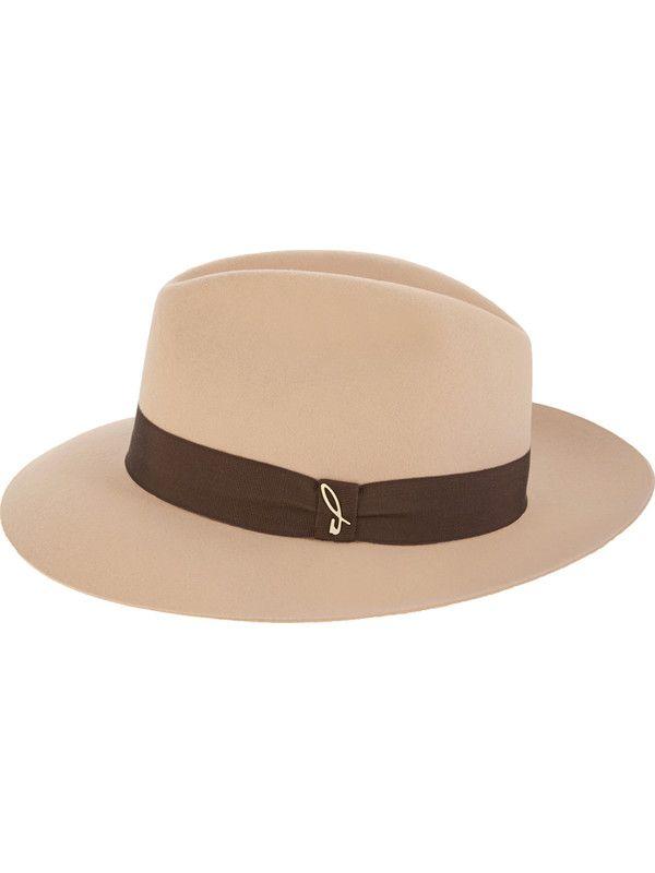 Elegant sand-colored fedora hat unisex Doria 1905