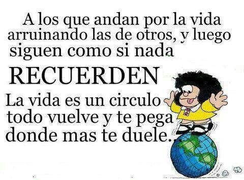 La sabiduria de Mafalda es sin igual....por eso sigues siendo mi adorada Mafis !!!