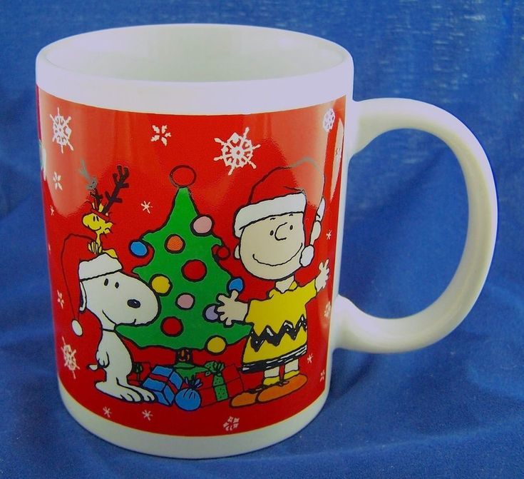 2011 Collectable Snoopy Woodstock Charlie Brown Peanuts Christmas Coffee Mug Cup | Collectibles, Animation Art & Characters, Animation Characters | eBay!