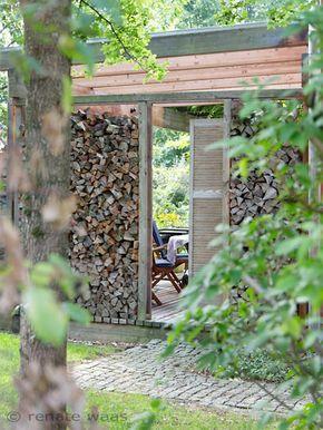 holzlege als sichtschutz f r die terrasse terrassensichtschutz pinterest garten. Black Bedroom Furniture Sets. Home Design Ideas