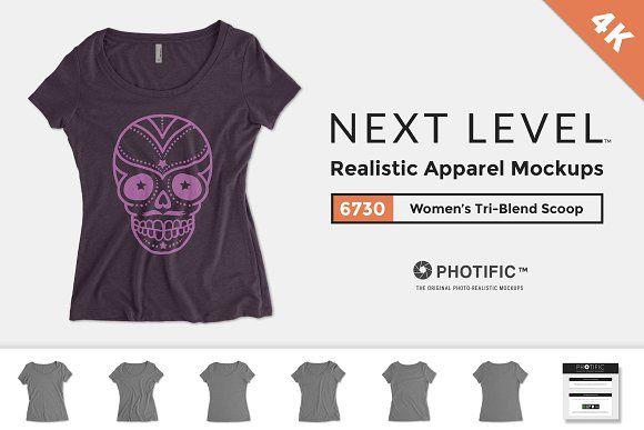 Next Level 6730 Tri-Blend Scoop by Photific on @creativemarket