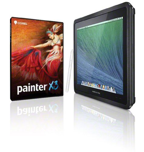 Corel Painter X3 & Modbook Pro [Mac OS X] 2.5GHz i5, 8GB RAM, 1.5TB Mobile Storage, 8xDVD Burner, USB3 Shuttle Corel Painter X3 [Mac OS X] Fullversion, Mac OS X 10.9 Mavericks 64-bit Operating System. 13.3 Wacom Penabled Modbook ForceGlass Display, Intel HD 4000 with up to 768 MB VRAM. 2.5 GHz Intel Core i5 Processor (Turbo Boost up to 3.1GHz) with 3MB L3 Cache, 8GB Modbook Standard RAM. Built-in... #Modbook_Pro #Personal_Computer