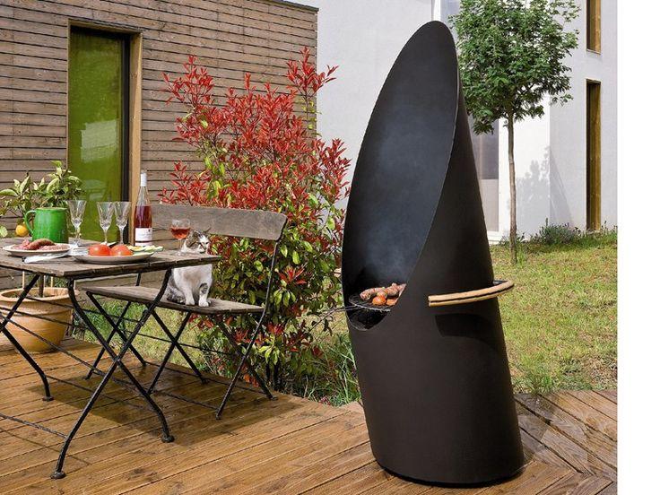 Churrasqueira a carvão vegetal em aço DIAGOFOCUS by Focus | design Dominique Imbert