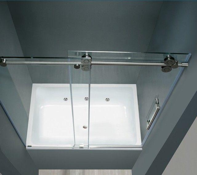 50 best images about bathroom on pinterest bathrooms for Glass barn door for bathroom