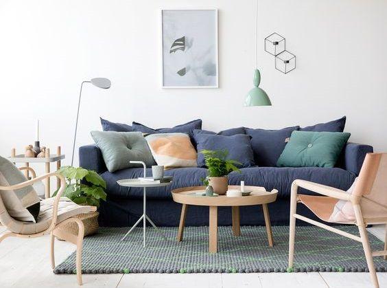 Woonkamer Van Muji : De mooiste blauwe banken van woonkamer