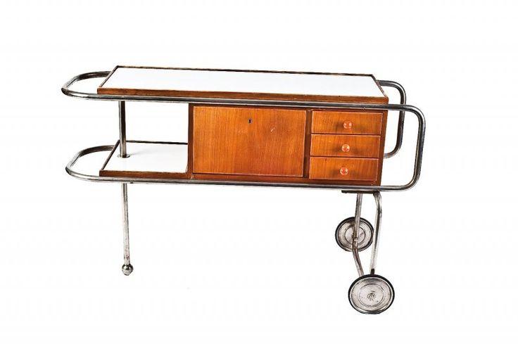 Funkcionalistický servírovací stolek | Aukce obrazů, starožitností | Aukční dům Sýpka