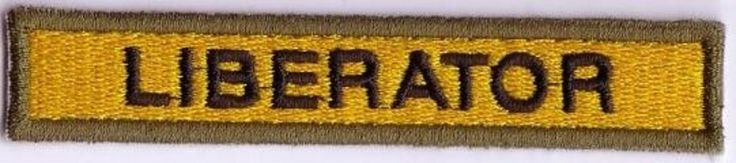 "WWII - LIBERATOR ""14th ARMORED"" Od Border (Reproduction)"