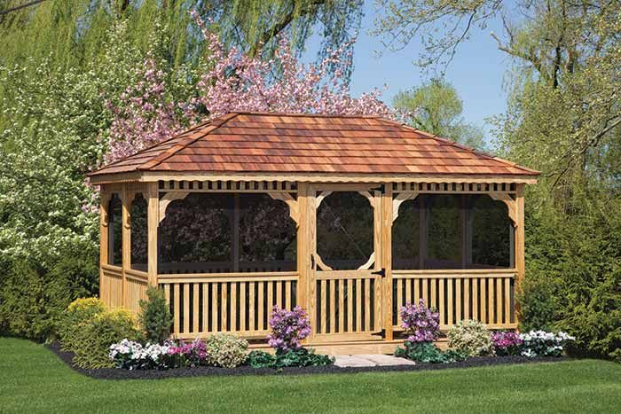25 best images about gazebos on pinterest lakes decks for Large wooden gazebos
