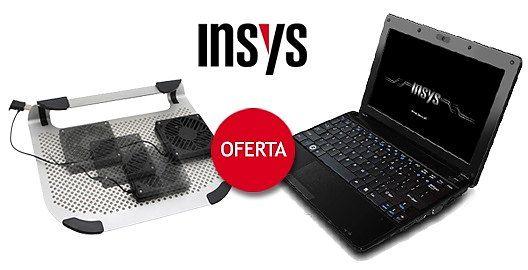 """Oportunidade Recondicionado! Portátil Ultra Compacto Insys 10.1"""" com Windows 7® + oferta de Base com Refrigerador!"""