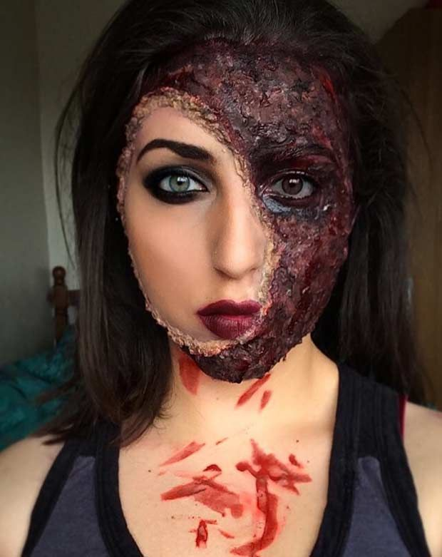 21 scary halloween makeup ideas - Quick Scary Halloween Costumes