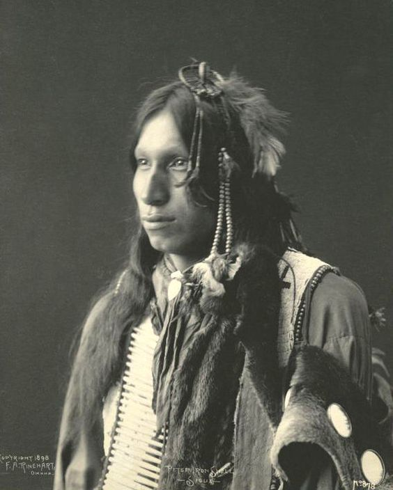 An Old Photograph Of Peter Iron Shell - Sioux 1898.