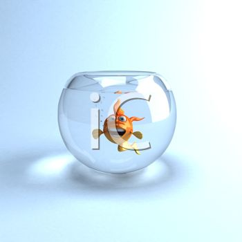 iCLIPART - Royalty Free Clipart Image of a Fish in a Fishbowl