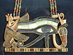 The Eye of Horus is an ancient Egyptian symbol of protection, royal power and good health. It is well known all over the world.