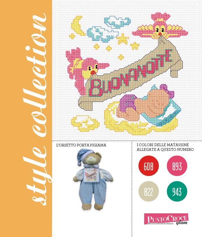 La Style Collection 28 da realizzare con le 4 nuove matassine Dmc: per personalizzare con un bel ricamo l'orsacchiotto dei vostri cuccioli! PuntoCroce Glam n. 28 - Mondadori editore