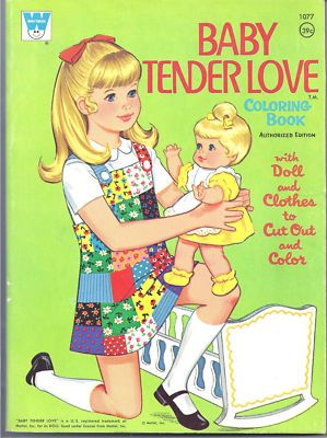 Vintage Barbie Doll House 1960s | Vintage Baby Tender Love Coloring Book Paper Doll