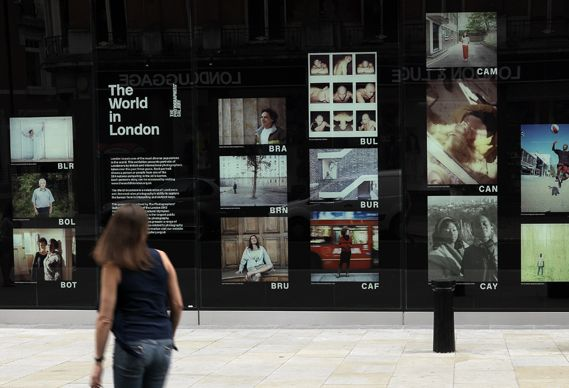 Exhibition Stand London : Hoarding by design studio a sw hk for the photographers