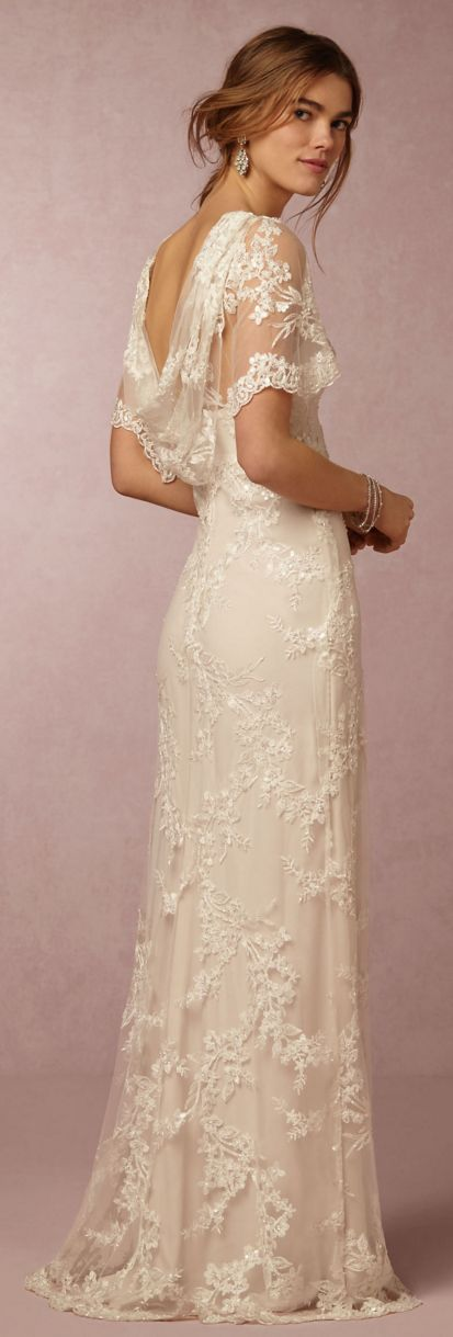 Vintage inspired lace wedding gown by bhldn