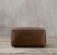Fulham Leather Ottoman