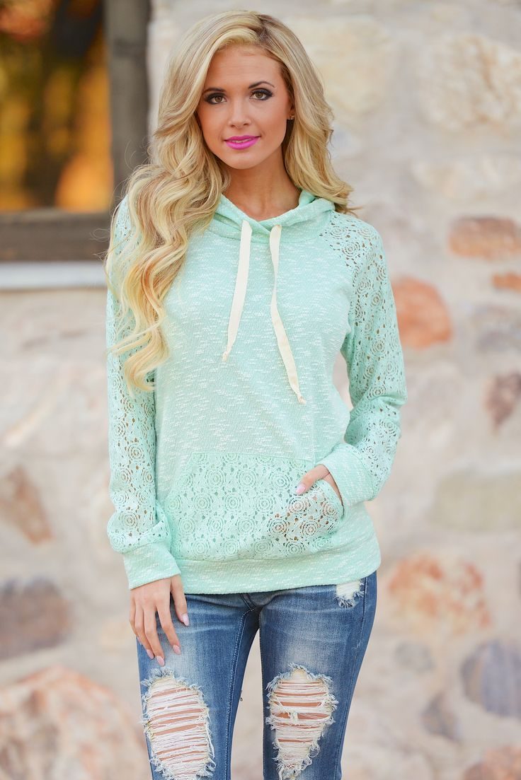 Down To Earth Hoodie - Mint from Closet Candy Boutique
