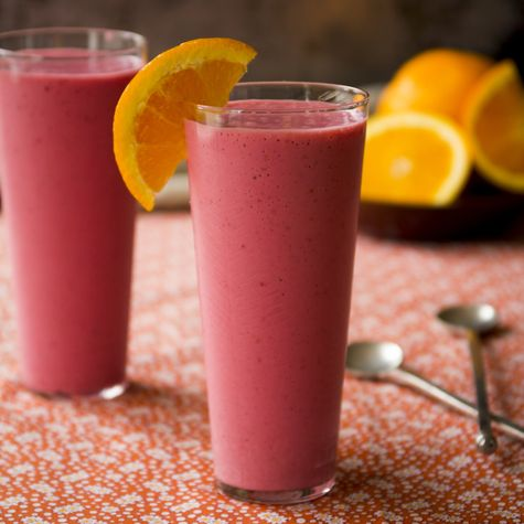 Raspberry Creamsicle Smoothie | Delicious! |  10.5 Grams Protein, 5 Grams Fiber | From @cabotcheese