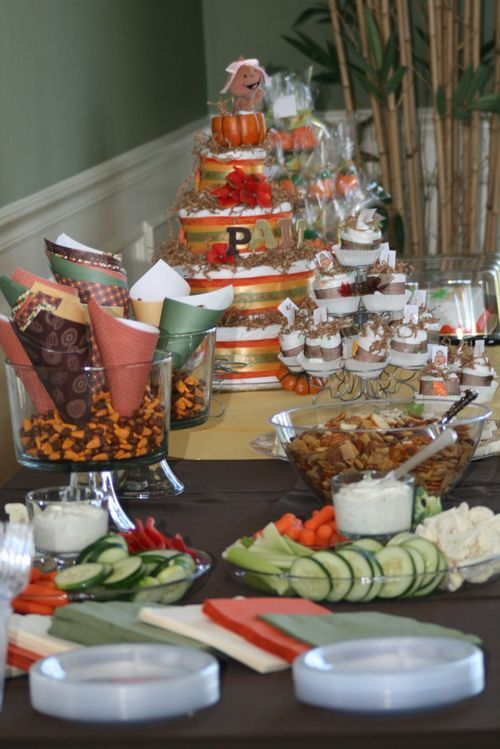 healthy snack bar fall theme baby shower pinterest baby shower