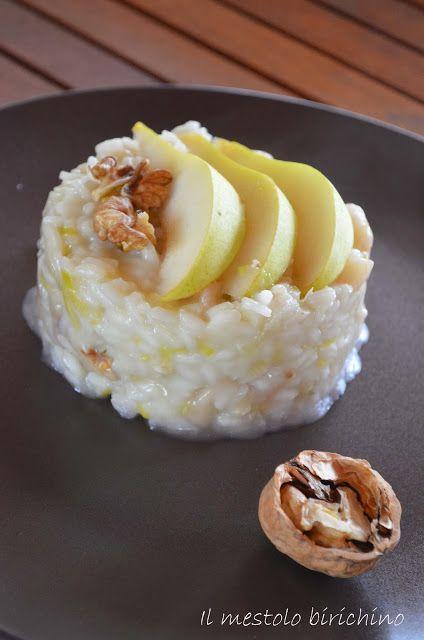 risotto pere, noci e taleggio