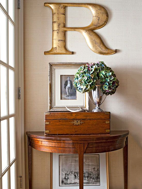 Letter Perfect-- use a vintage letter for a stunning wall display